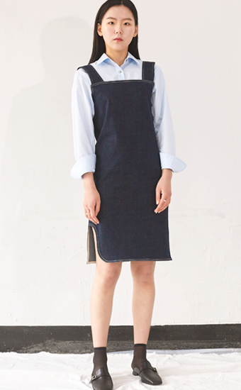 Back Point Denim Dress (NA)