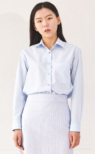 품절_Pocket Point Shirt(SK/BU)